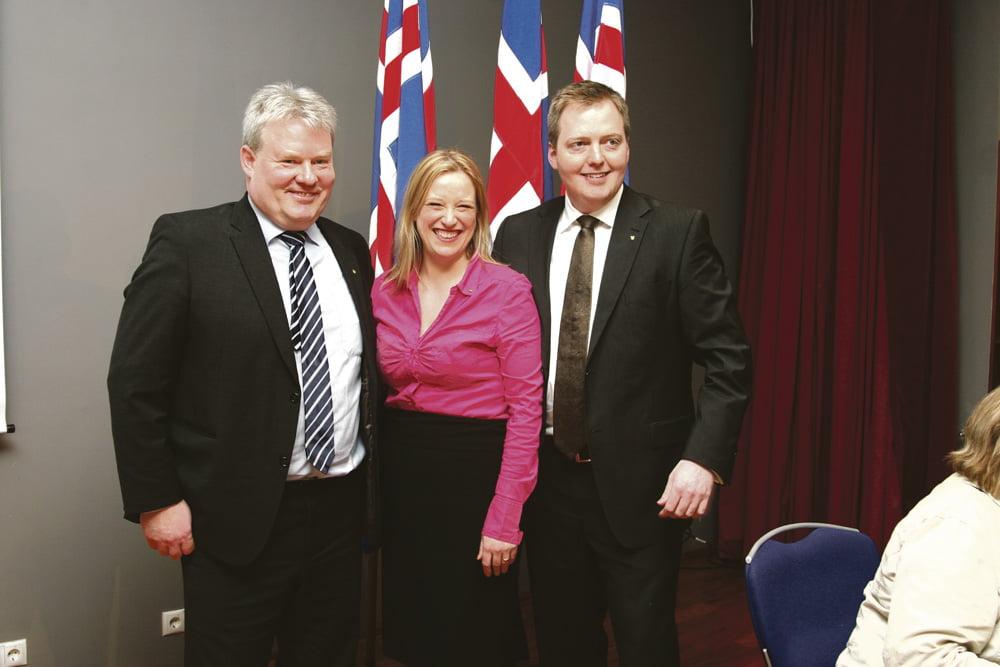 Entinen pääministeri  Gunnlaugsson oikealla. Kuva: Framsókn,  Wikimedia Commons