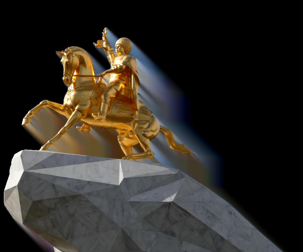 Hevoskultti ja presidentin henkilöpalvonta liittyvät tiiviisti toisiinsa. Turkmenistanin presidentti Gurbanguly Berdimuhamedow pystytti itseään esittävän kultaisen ratsastajapatsaan pääkaupungin keskustaan.