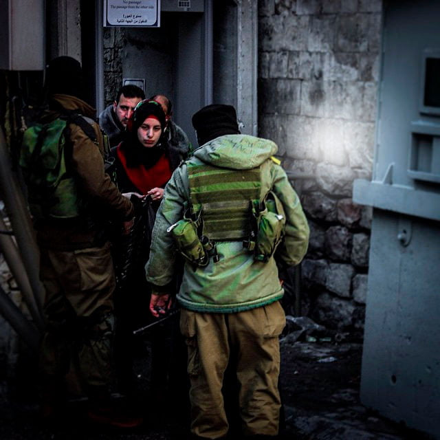 Israelin tarkistuspiste Hebronissa.