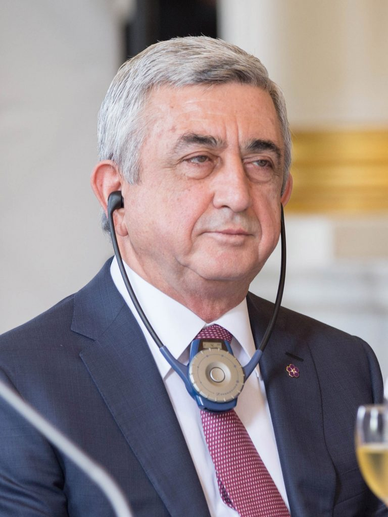 Serž Sargsjan Brysselissä kesäkuussa 2017.