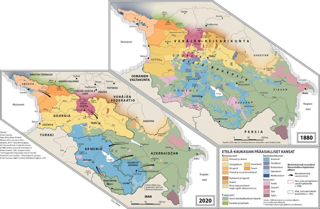 Kaukasuksen konfliktien alkuperän jäljillä